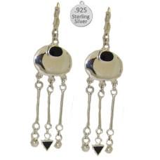 Silver & Genuine Black Onyx Stone Wholesale Earrings