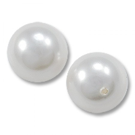 20 Pearl Wholesale 16mm Half Drilled Off White Pearl Bead