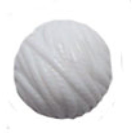 20 Wholesale 24mm White Textured Round Flat Back