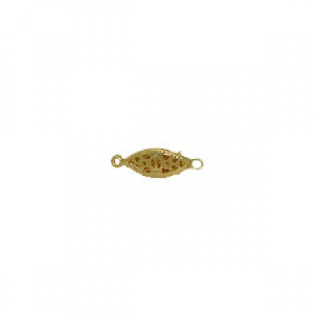 20 Wholesale 20mm x 6mm Gold Filagree Clasp