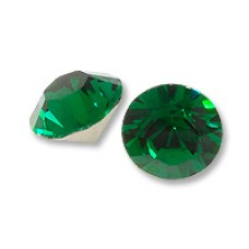 8 Emerald Crystal Gold Foil Back 7 mm