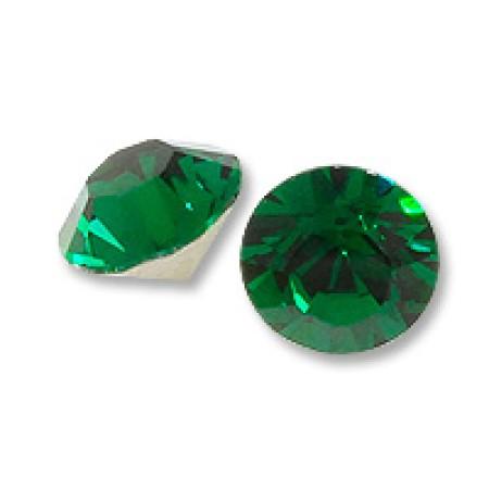 8 Emerald Crystal Gold Foil Back 7 mm