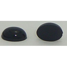 12 Wholesale 11mm x 8mm Black Oval, Flate