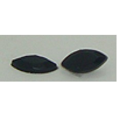 12 Stones Wholesale 10mm X 5mm Fancy Edged Black Stone