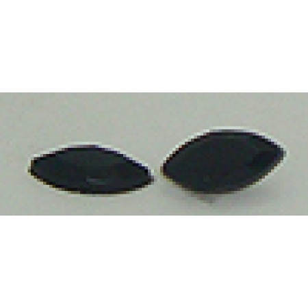12 Stones Wholesale 10mm X 5mm Fancy Edged Black Stone