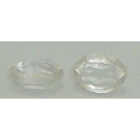 40 Wholesale 8mm X 6mm Clear Beads