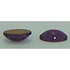 20 Wholesale Pearl 6mm x 4mm Purple Foil Back