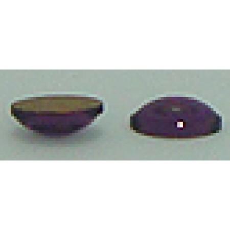 20 Wholesale Pearl 6mm x 4mm Purple Foil Back