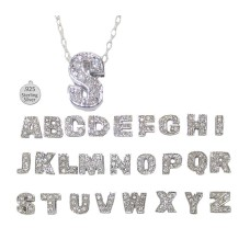 C LETTER C on chain wholesale necklace