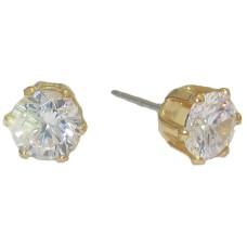 Cz StudWholesale Earrings 3 mm yellow gold