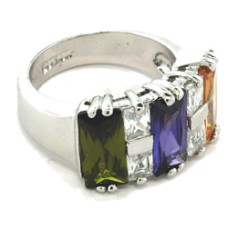 Austrian Crystal Wholesale Designer Ring Multi Colors